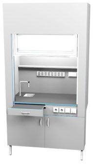 Шкаф вытяжной с сантехникой ШВ НВК 1200 ПП+ (1200x716x2200)