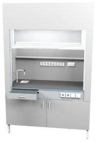 Шкаф вытяжной с сантехникой ШВ НВК 1500 ПП+ (1500x716x2200)