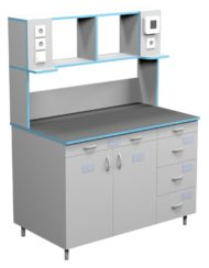 Стол пристенный для работы стоя СЛП НВК 1200 КГ (1218x700x1650)