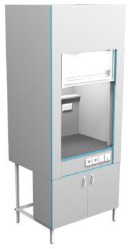 Шкаф вытяжной без сантехники ШВ НВК 900 ПП (900x716x2200)
