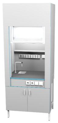 Шкаф вытяжной с сантехникой ШВ НВК 900 МОН+ (900x716x2200)