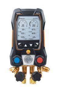 testo 557s — Умный цифровой манометрический коллектор с 4-х ходовым блоком клапанов и с Bluetooth (0564 5570)